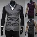 Frete grátis Jaqueta masculina de Couro Falso de 2017 Hot Sale Outono Moda masculina Casual Wear Top qualidade Tamanho M-XXL