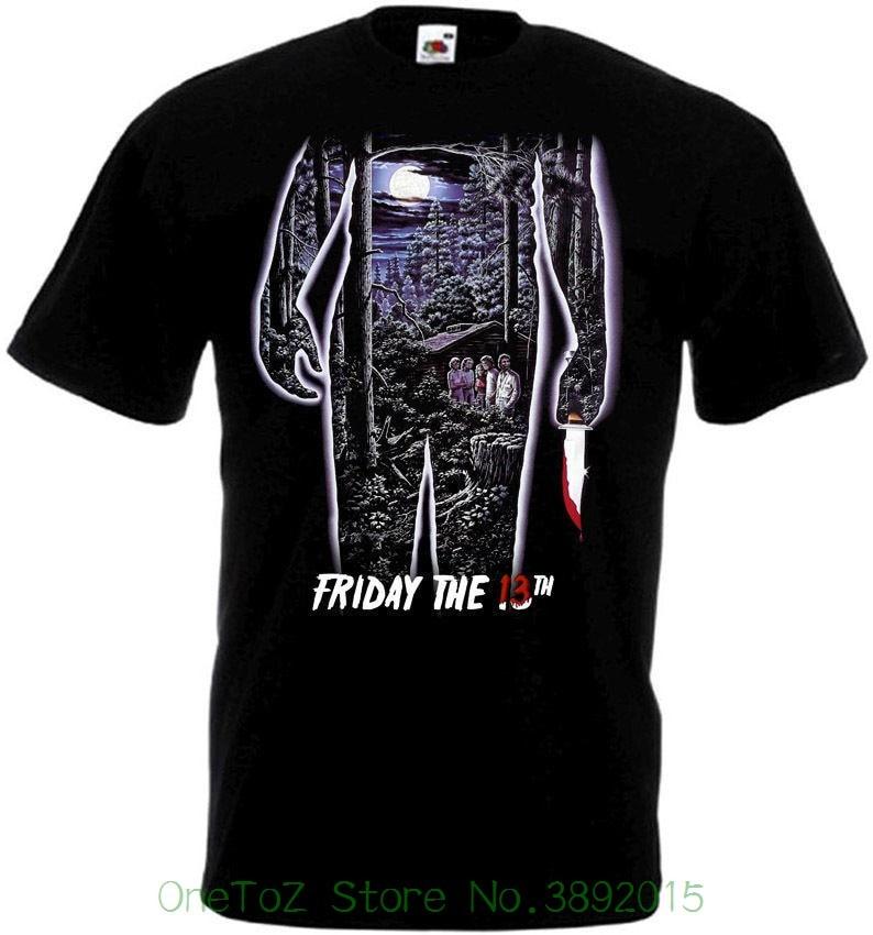 Summer Short Sleeves Fashion T Shirt Free Shipping Friday The 13 V35 T-shirt All Sizes S - 5xl Black