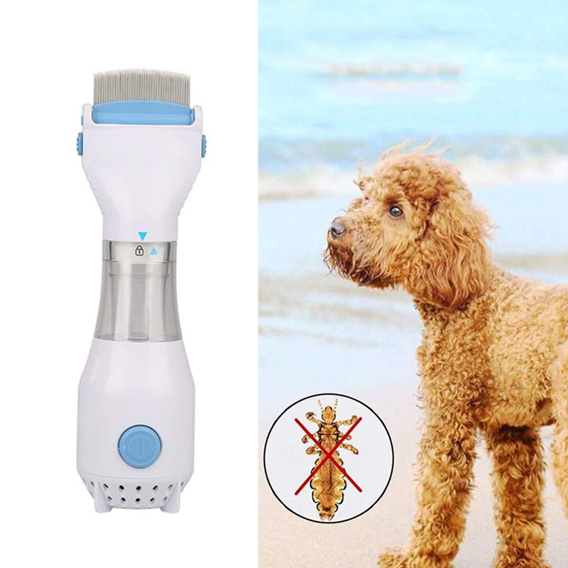 Safely Kill Lice Cleaning Capture Tool for Pets Dogs Cats Electric Pet Head Lice Flea Comb WoRamy Electric Flea Comb Vacuum Flea Comb Removes Lice and Eggs