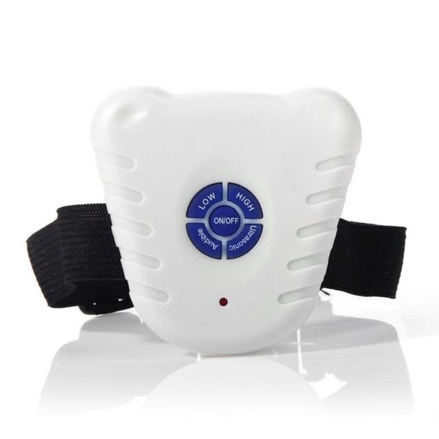 Waterproof Dog Stop Barking Control Collar Training Device Button Clicker Adjustable Ultrasonic Dog Anti Bark Collar  3