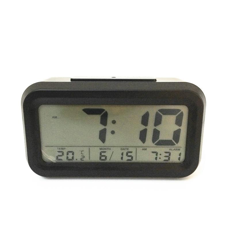 2018 latest! Led snooze alarm clocks temperature,calendar timer backlight LED display digital clock 3019ablack-Clock