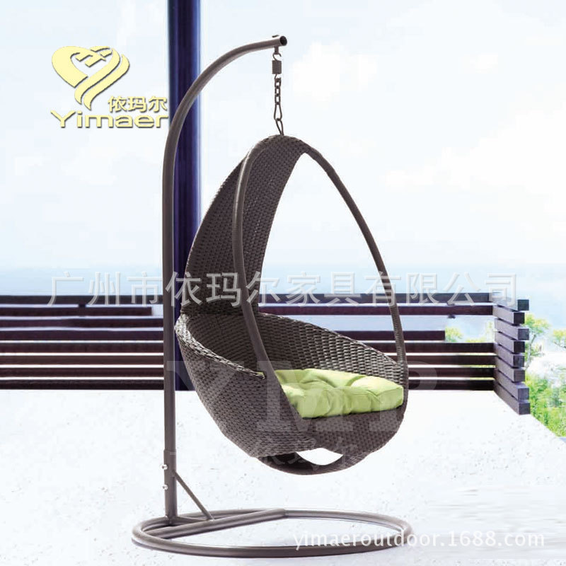 Outdoor Rattan Swing Hanging Chair Rattan Baskets Europe And The