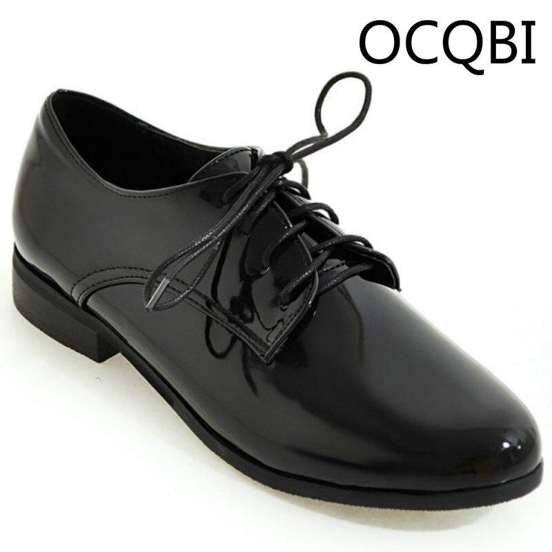 2018 College-mode Spitze Up Boot Schuhe Damen Einzigen Schuhe Größe 33-46 Vintage England Stil Business Kleid Schuhe Schwarz Silber