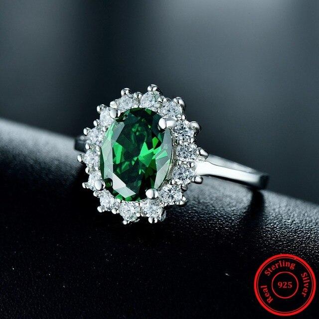 20ct модные настоящее твердые 925 серебряное кольцо женские фотография