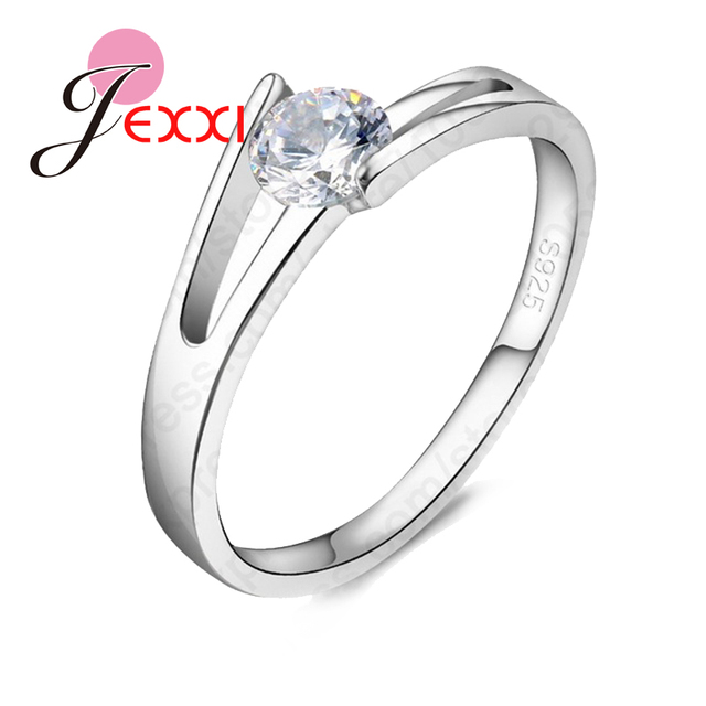 JEXXI Newest Design Genuine 925 Sterling Silver Clear Cubic Zircon High Quality