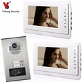 Проводной видеодомофон Yobang  7 дюймов  дверной звонок  система внутренней связи с rfid-экраном  ИК-камера  2 шт.