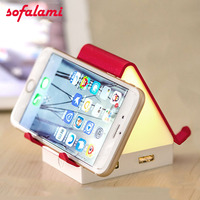 Multi function USB charging light creative Holder Cell Phone Stand Charger Bracket For iPhone Samsung SONY XIAOMI