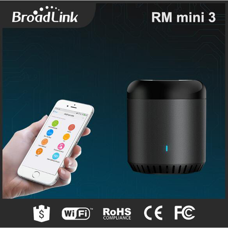 Broadlink RM Mini3 Smart Home Universal Intelligent WiFi/IR/4G Wireless Remote Control Switch RM Mini 3 Via Phone Android IOS new xiaolei wifi remote smart home automation wifi ir rf universal intelligent remote control for iphone ios android ltech