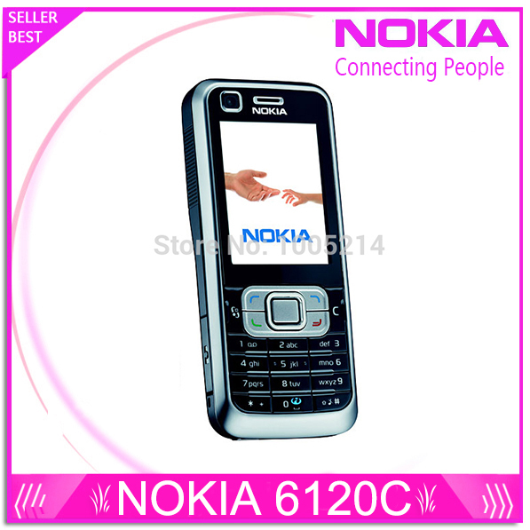 Refurbished Original Nokia 6120 Classic Mobile Phone Unlocked 6120c 3G Smartphone One year warranty Free shipping