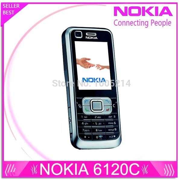 Restaurado original nokia 6120 classic 6120c abrió el teléfono móvil 3g smartpho