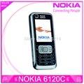Restaurado original nokia 6120 classic 6120c abrió el teléfono móvil 3g smartphone & garantía de un año el envío libre