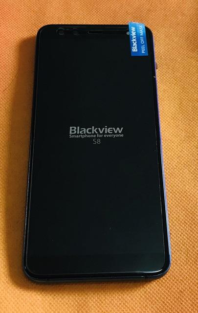 Orijinal LCD ekran + sayısallaştırıcı dokunmatik ekran + çerçeve Blackview S8 MT6750T Octa çekirdek ücretsiz kargo