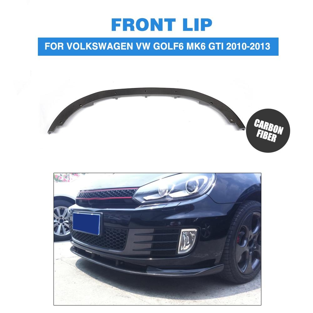 Карбоновое волокно передний бампер для губ спойлер подбородок для Volkswagen VW Golf 6 VI MK6 GTI 2010 2013 автомобильный Стайлинг