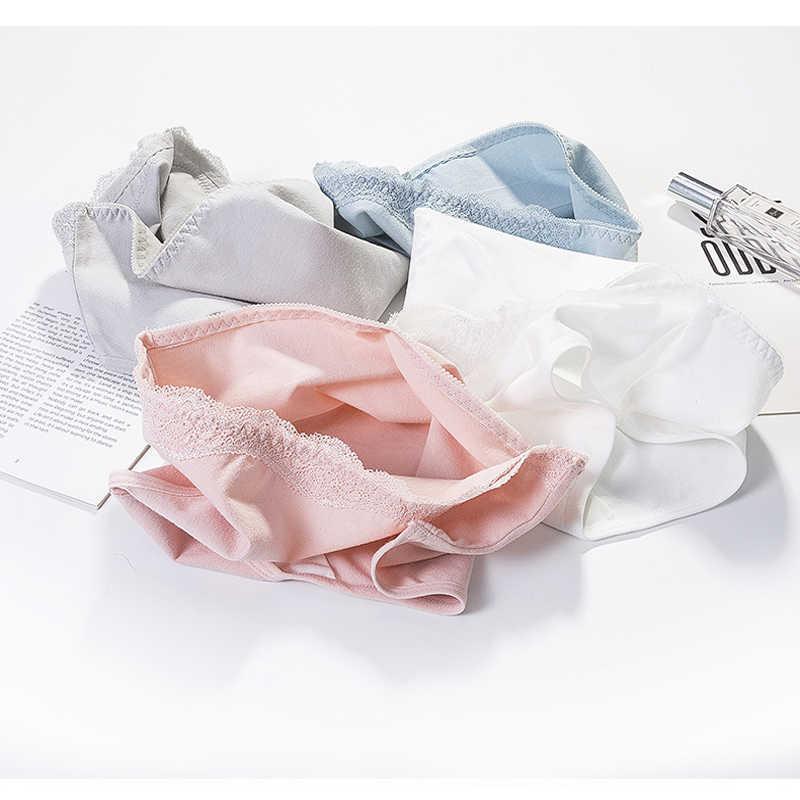 3 pcs/lot culottes pour femmes sous-vêtements confortables tracless coton Lingerie Sexy slip fille solide couleur caleçon femme nouveau