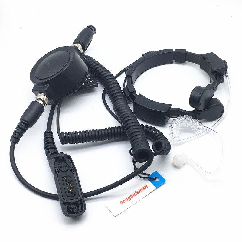 Grand casque rond sensible d'épaule de Tube d'air de contrôle de gorge pour Motorola P8268 XPR6100/6550/6580 DP4400 DP4408 etc.