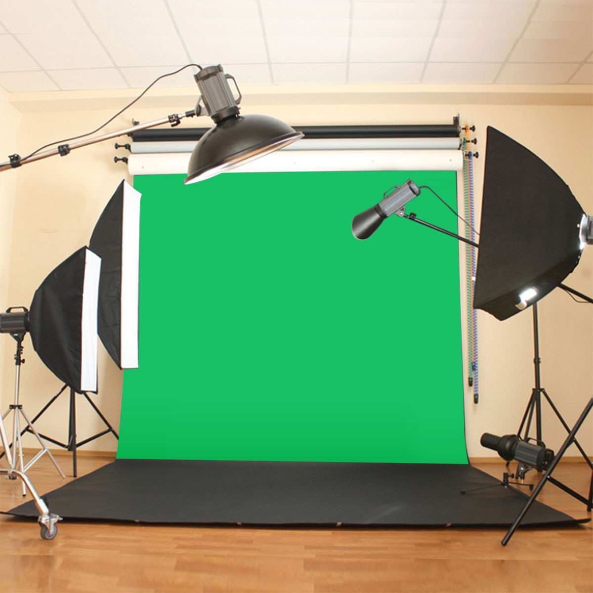 цена на 10X10ft/300x300CM Chromakey Green Screen Muslin Green Cloth Screen Backdrop Photo Photography Studio Background