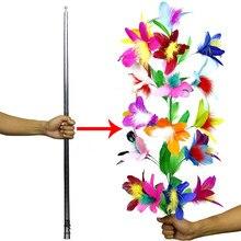 Desaparecendo bengala para flor bengala de prata close-up estágio truques de magia para mágico profissional adereços de magia engraçado gadget