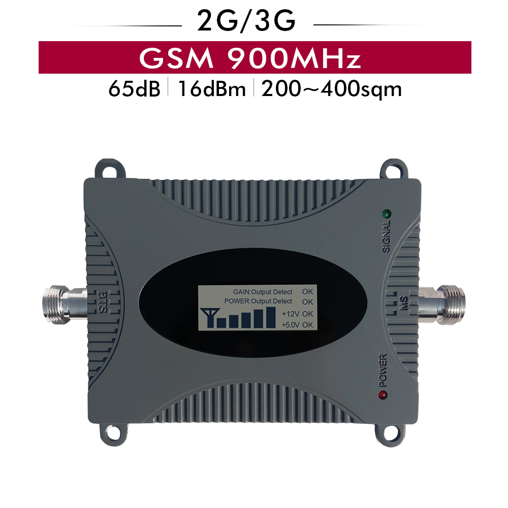 65dB Gain 16dBm 2G GSM 900mhz Mobile Signal Booster GSM 900 MHz Cell phone Signal Repeater