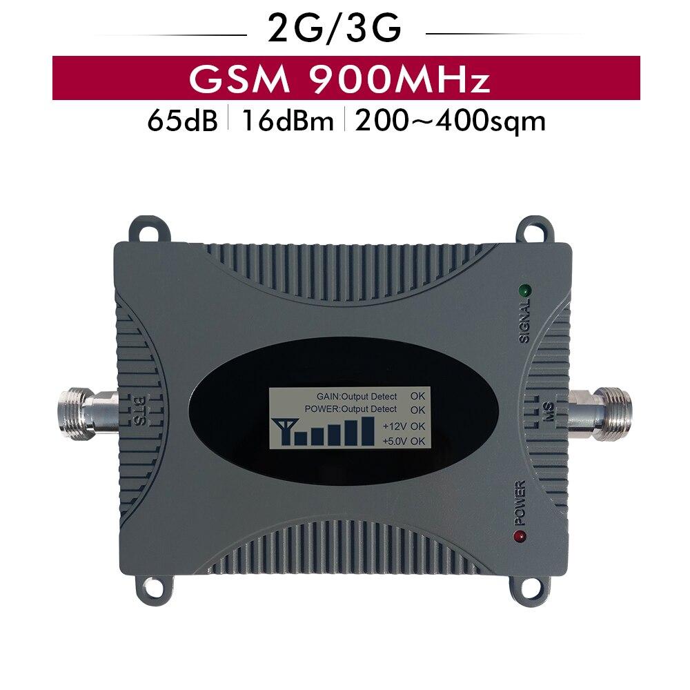 Amplificateur cellulaire de répéteur de Signal de téléphone portable de GSM 900 mhz de Gain de 65dB 16dBm 2G GSM 900 MHz avec l'affichage d'affichage à cristaux liquides