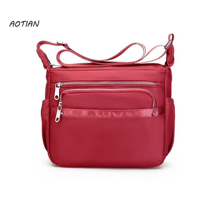 AOTIAN Handbag Waterproof Nylon Women Messenger Bags for Women Shoulder Bag Ladies Crossbody Bags sac a main bolsa feminina рубашки