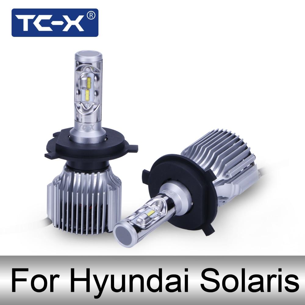 TC-X For Hyundai Solaris Car Headlight 880 H27 ptf light led H4 High low Beam Replacement Bulb Car Light Source LED 12v 6000k