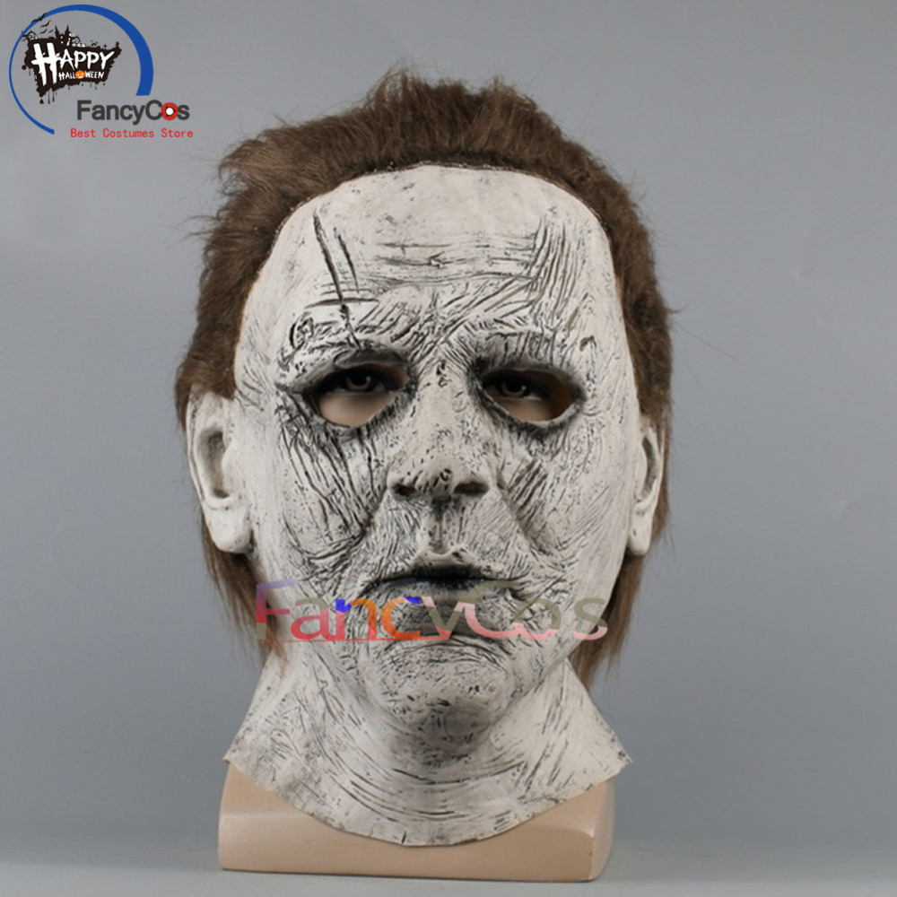 2018 Movie Halloween Michael Myers Mask Cosplay Helmet Halloween Terror panic latex Mask Props High Quality Costume Gifts Mask