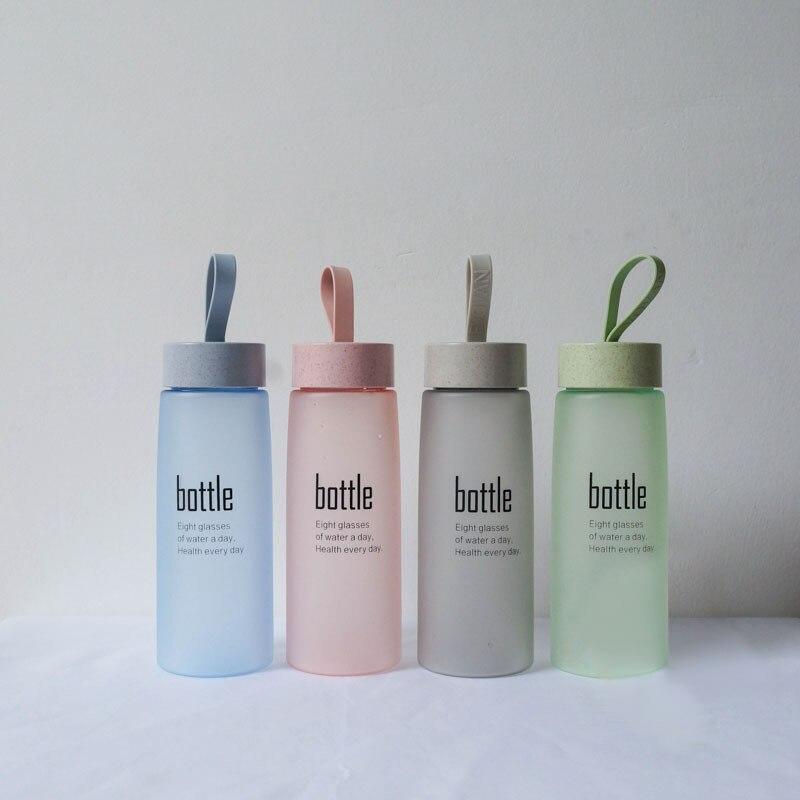 HTB1iiZYmv6H8KJjSspmq6z2WXXaH BPA Free Water Bottle Plastic Sport Scrub Leak Proof Drinking My Bottle Portable Fashion Drinkware Tour Bottles for Lovers H1094