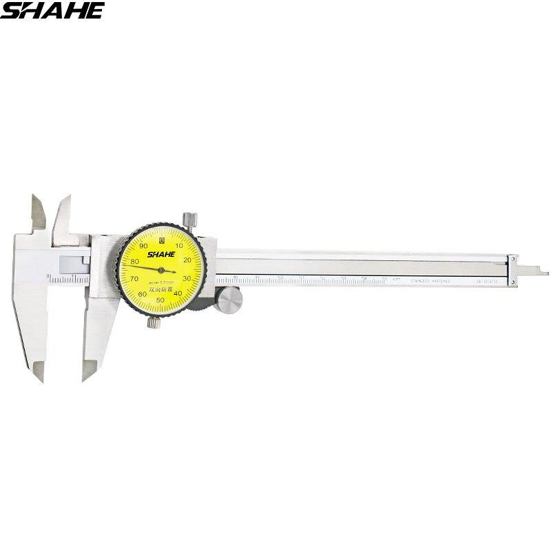 SHAHE 6'' dial caliper 0.01 mm Shock-Proof Stainless Steel Vernier Dial Caliper Gauge Micrometer
