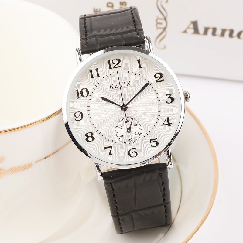 New Retro Casual Fashion Luxury Couple Watch Personal Numbers Scale Women's Men's Leather Strap Ultra thin Lover's Wristwatch
