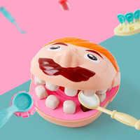 Kinder Spielzeug Zahnarzt Rolle Spielen Plastilin Haus Spielen Spielzeug Zahn Extraktion Füllung Pädagogisches DIY Ton Mold Set Kinder Geschenke