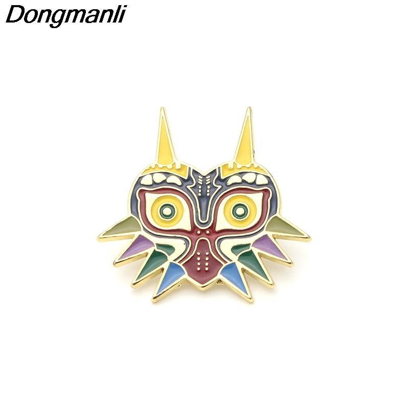 P2655 Dongmanli Сова металлические эмалевые, на воротник Pin нагрудный знак Ювелирная брошь игроков подарки аксессуары
