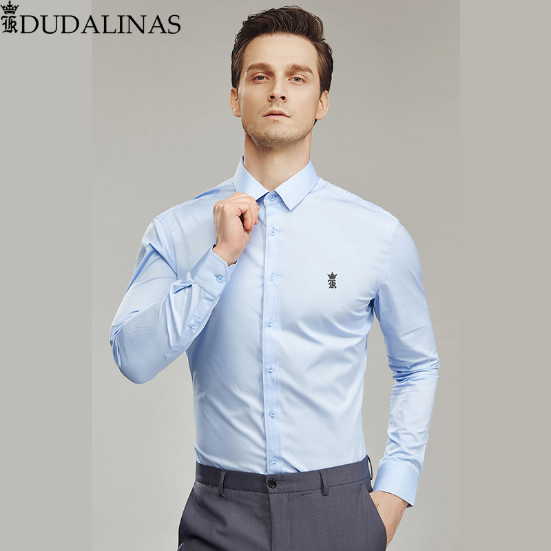 Dudalinas Shirts Men Casual Shirt Sergio K Dress Shirt Casual Long Sleeved Camisa Masculina Social Chemise Homme Without Pocket