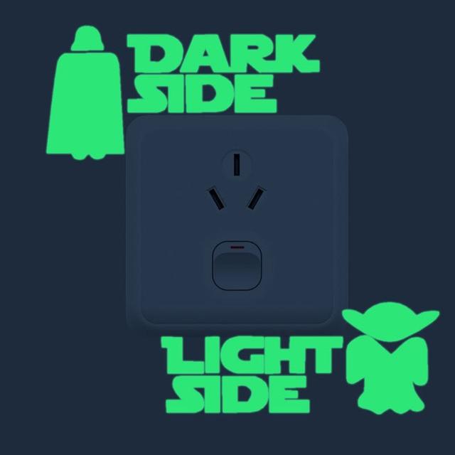 1Pcs Cartoon Luminous Switch Sticker Glow in the Dark Wall Stickers Home Decor Kids Room Decoration Sticker Decal Star Wars