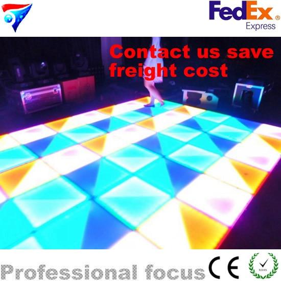 Danse de plancher menée chaude de 432x10mm (R144, G144, B144) avec la piste de danse Led scintillante pour l'exposition de mariage