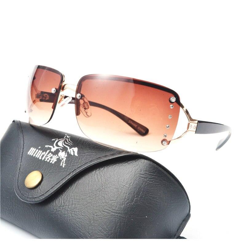 b5b610cb10a MINCL  2018 New Luxury Brand Designer Ladies Oversized Sunglasses Women  Diamond Frame Mirror Sun Glasses