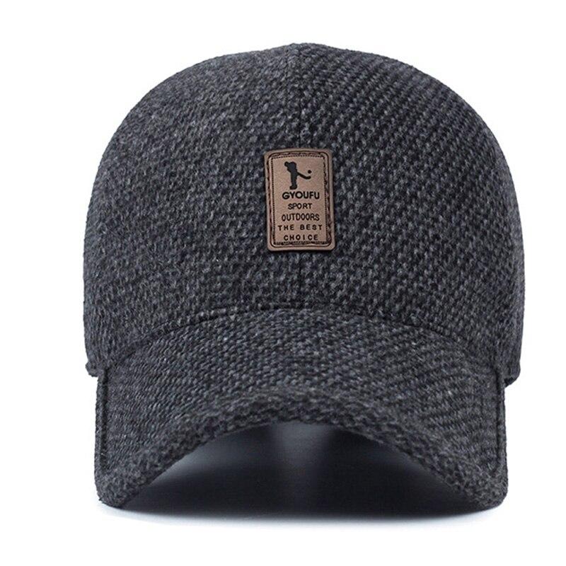 Voron 2017 marca invierno gorra de béisbol sombrero caliente espesado  algodón SnapBack gorras protección del oído sombreros para hombres 7e57de1cc6d