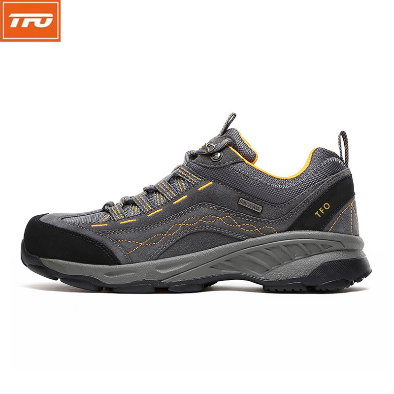 TFO Men Hiking Shoes Brand Sports Sneakers Man Athletic Shoes Waterproof Breathable Climbing Camping Outdoor Shoes 842556 new suede low top lace up outdoor sports waterproof lightweight hiking shoes men breathable trekking climbing athletic sneakers