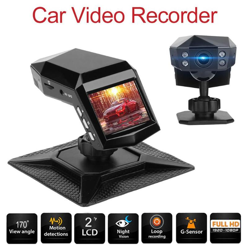 2.0inch Car Camera LTPS 1296P 170 Degree Wide Angle Night Vision Car Loop Recorder DVR Camera For Driving Recording Car Detector xycing car dvr 360 degree rotating suction cup bracket car holder 3 pin connector for g50 g55 g52d gs52d car dvr camera