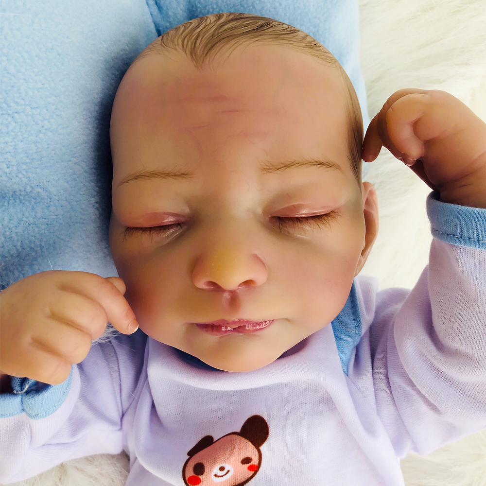 46cm Soft Silicone Reborn Dolls lol reborn-baby collectible Dolls modeling boy reborn sleeping Kids Real touch bebe Xmas gifts46cm Soft Silicone Reborn Dolls lol reborn-baby collectible Dolls modeling boy reborn sleeping Kids Real touch bebe Xmas gifts