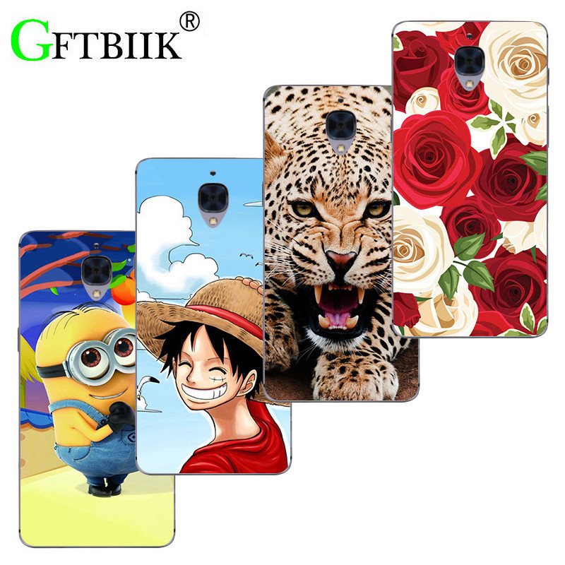 Super-Cartoon-Muster Abdeckung Für Oneplus Drei/<font><b>One</b></font> <font><b>Plus</b></font> 3 3 T <font><b>A3003</b></font> Fall Despicable Me 2 Painted Tier Spiel Shell Coque image