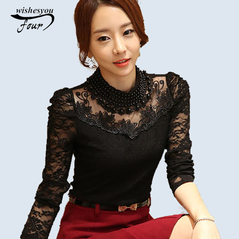 2017 New Fashion long sleeve blouse shirts womens