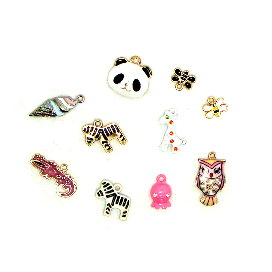 Fashion enamel animal series mini pendant charms DIY bag clothes hat cell phone decorations ornament jewelry collection accessor