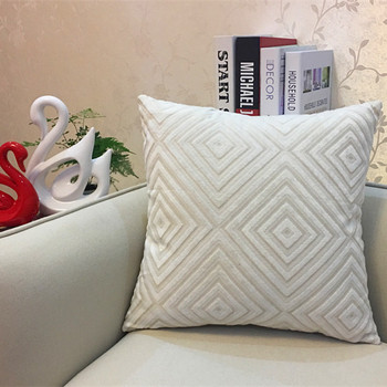 White Diamond corduroy Throw Pillow 5