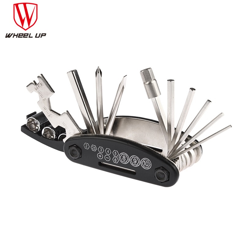 Multifunctional Bike Tools Set Road MTB Mountain Bike 16 in 1 Multi Tool Kit Bicycle Tire Repair Kits Tool Cycling Multitool New portable bicycle tire repair bike tools kits bicicletas bike accessories chain tool cycling kit herramientas bhu2