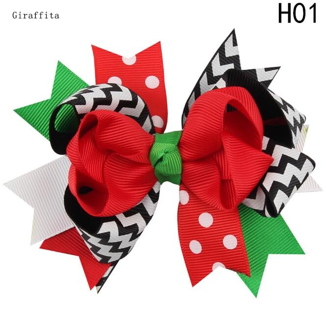 Fashion Christmas Gift Ribbon Bows Clip Snow Hair Clips Hair Pin Accessories Swallowtail Bowknot Christmas Hairpin