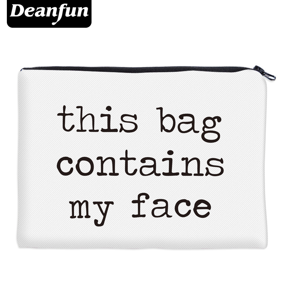 Cool Gadgets Deanfun Cosmetic Bags 3D Printed Letter Simple Women Makeup Organizer Travelling 85001