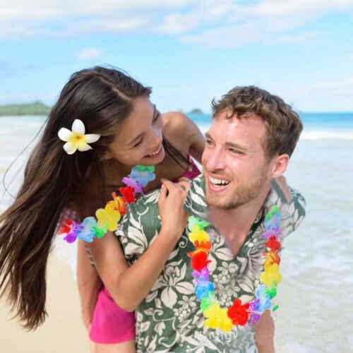 הוואי מלאכותי פרחים מנוחת זר שרשרת תחפושת מסיבת הוואי חוף כיף פרחי DIY מסיבת חוף קישוט