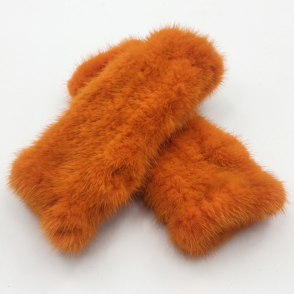 Image 5 - Winter Real Mink Fur Gloves Women Real Mink Fur Fingerless Gloves Women Fashion Elasticity Genuine Knitted Real Mink Fur Mittens-in Women's Gloves from Apparel Accessories