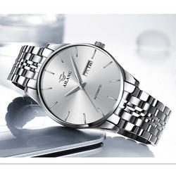 AILANG cienkie mężczyzn zegarek automatyczny zegarek mechaniczny Auto data wielofunkcyjny zegarek męski biznes wodoodporny Erkek Kol Saati w Zegarki mechaniczne od Zegarki na