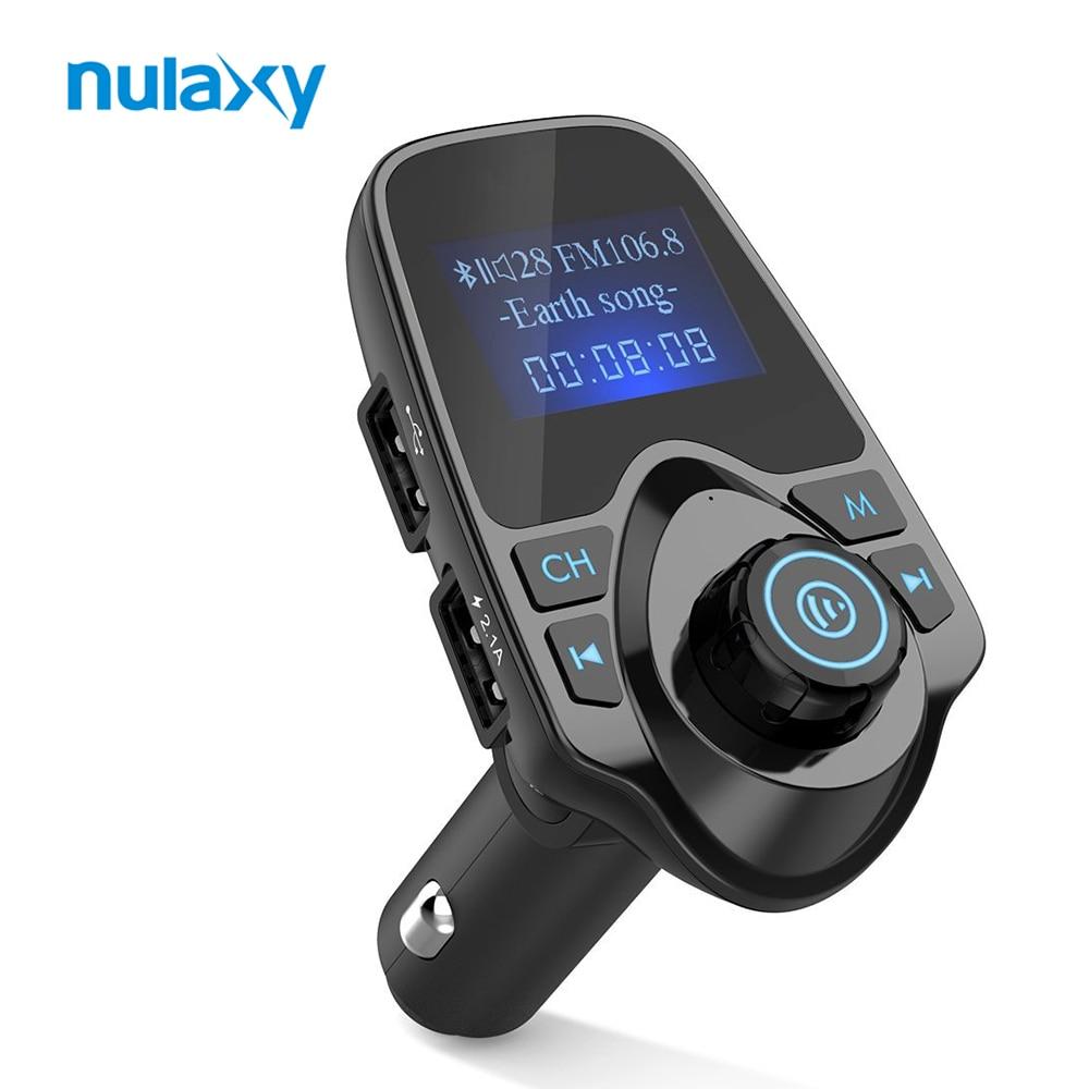 Цена за Nulaxy Bluetooth fm-передатчик громкой связи Автомобильные MP3-плееры fm-модулятор Car Kit с 1.44 дюймов ЖК-дисплей Дисплей 2.1A USB Автомобильное Зарядное устройство